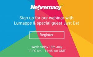 Netpremacy Lumapps and Just Eat webinar