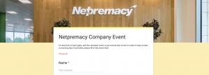 Netpremacy Google Forms demo