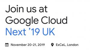 Google Next 19 london