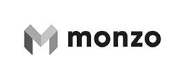 black and white monzo logo